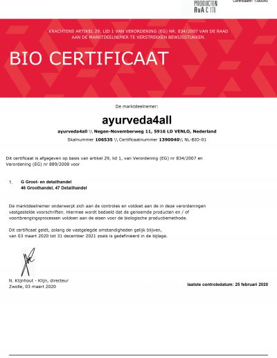 cert_EU_BIO_certificaat_Ayurveda4all-tot-31dec2021